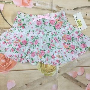 Guess infant girls floral skirt sz 24 months NWT